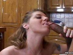sexy milf licks long black cock