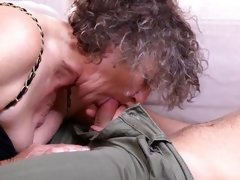greyhair granny loves to suck young dick for her lover