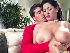 brunette milf with big tits loves to fuck