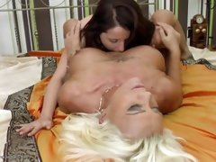 two mature lesbians have fun with each other