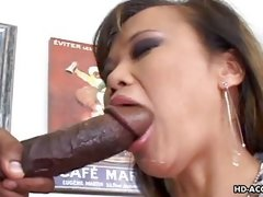 mom takes thick black cock in hot mouth